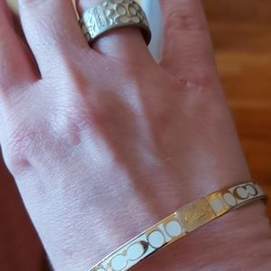 A set of coach  ring and bracelet  authentic